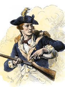 Continental Soldier Loading His Musket, American Revolution