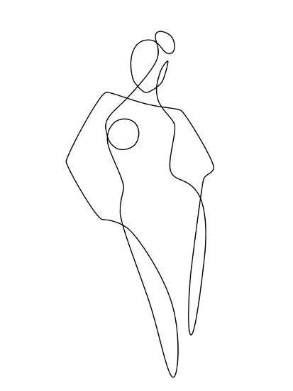 Continuous Line Female-Explicit Design-Art Print