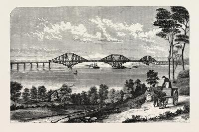 Continuous Steel Girder Bridge to Cross the Firth of Forth, UK, 1882--Giclee Print