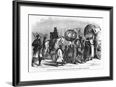 Contrabands Accompanying the Line of Sherman's March Through Georgia, C.1864--Framed Giclee Print