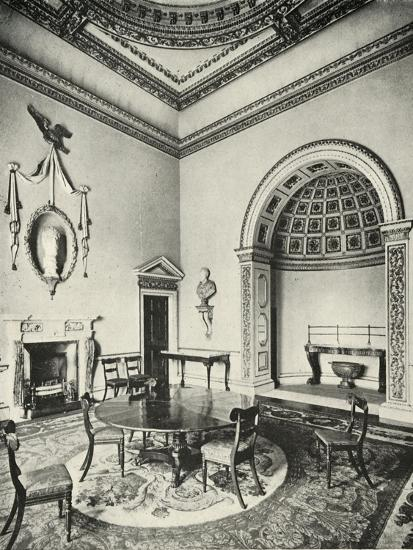 'Contrasted Interiors: Palladian - The Dining-Room, Holkham, Norfolk, by William Kent, with Regency-Unknown-Giclee Print