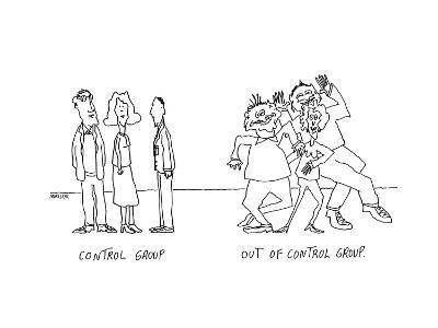 Control Group.  Out of Control Group. - Cartoon-Peter Mueller-Premium Giclee Print
