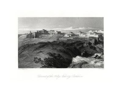 Convent of the Holy Nativity, Bethlehem, Palestine, 19th Century-E Goodall-Giclee Print