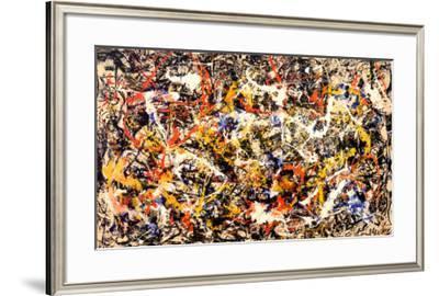 Convergence-Jackson Pollock-Framed Art Print