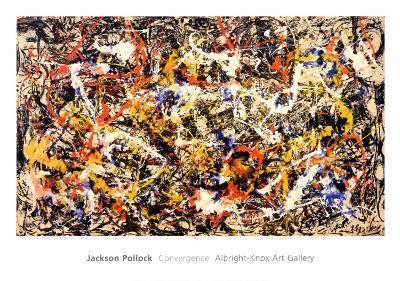 Convergence-Jackson Pollock-Framed Print Mount