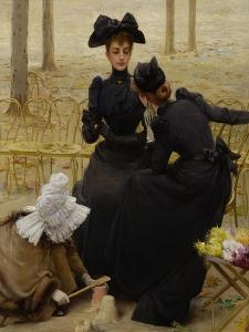 Conversation in the Jardin Du Luxembourg, 1892
