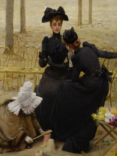 Conversation in the Jardin Du Luxembourg, 1892--Giclee Print