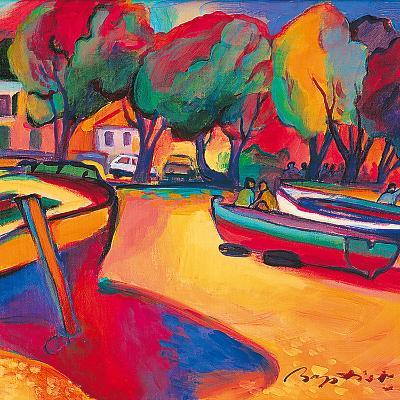 Conversation on the Coast-Gerry Baptist-Giclee Print