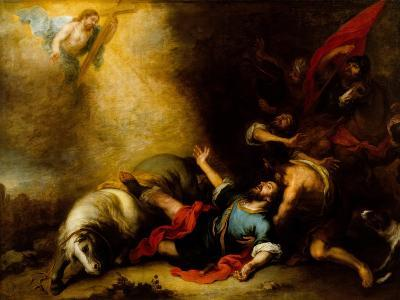 Conversion of Saint Paul-Bartolome Esteban Murillo-Giclee Print