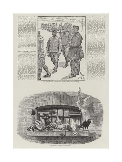 Convict Life at Wormwood Scrubs Prison-Charles Paul Renouard-Giclee Print