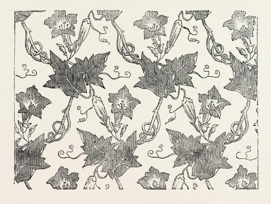 Convolvulus Silk Pattern, James Hill and Co., Spitalfields, London--Giclee Print