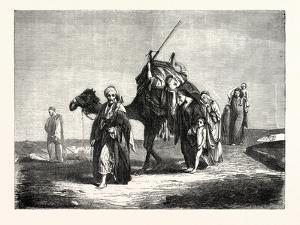 Convoy Funeral in the Desert of Suez, Egypt. 1855