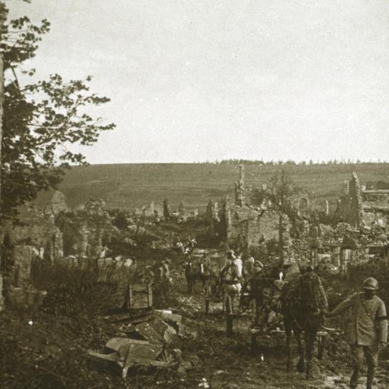 Convoy, Les Éparges, northern France, c1914-c1918-Unknown-Photographic Print