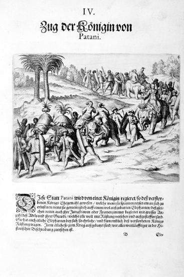 Convoy of the Queen. 1606-Theodore de Bry-Giclee Print