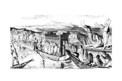 Convoy Returning with a Necropolis, Egypt, 1881--Giclee Print