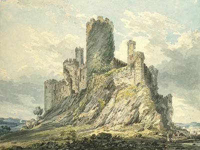 Conway Castle, C.1793 (Watercolour, Touched with the Reed Pen, over Indications in Graphite)-Thomas Girtin-Giclee Print