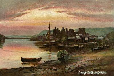 Conway Castle, Caernarvonshire, North Wales, Late 19th or Early 20th Century- Langsdorff and Co-Giclee Print