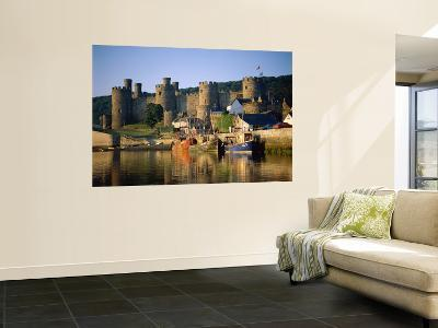 Conwy Castle and River Conwy, Wales-Steve Vidler-Wall Mural