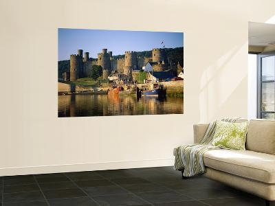 Conwy Castle and River Conwy, Wales-Steve Vidler-Giant Art Print