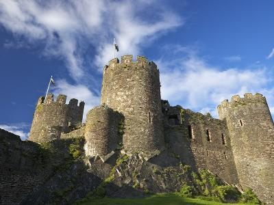 Conwy Medieval Castle in Summer, UNESCO World Heritage Site, Gwynedd, North Wales, UK, Europe-Peter Barritt-Photographic Print