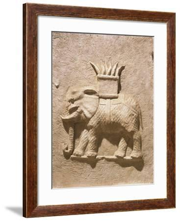 Conzio Cerdone Cippus, Relief Portraying Elephant Possibly Laden with Ivory, from Via Appia--Framed Giclee Print