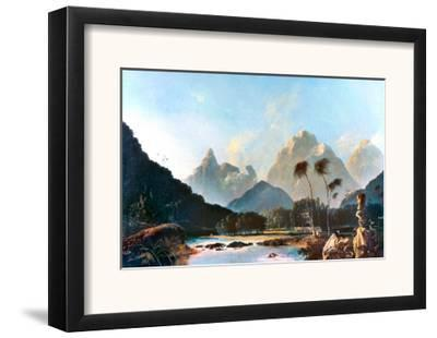 Cook: Tahiti, 1773-William Hodges-Framed Giclee Print