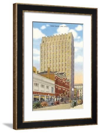 Cook Tower, Lima, Ohio--Framed Art Print