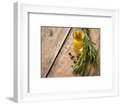 Cooking Oil and Fresh Rosemary-manera-Framed Photographic Print
