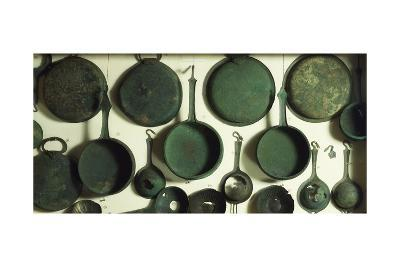 Cooking Pots in Bronze, 9th-1st Century BC--Giclee Print