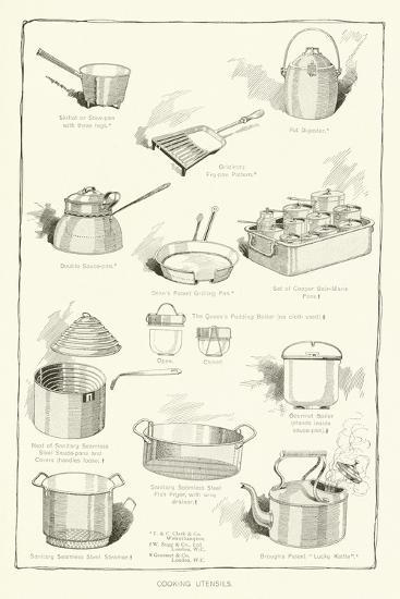 Cooking Utensils--Giclee Print