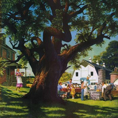 """""""Cookout,""""August 1, 1950-George Bingham-Giclee Print"""