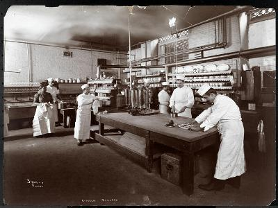 Cooks Working in the Kitchen at Maillard's Chocolate Manufacturers, 116-118 West 25th Street, New…-Byron Company-Giclee Print