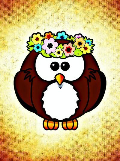 Cool And Funny Owl Bird-Wonderful Dream-Art Print