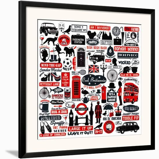 Cool Britania-Janie Secker-Framed Art Print