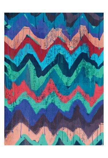 Cool Chevrons 1-Cynthia Alvarez-Art Print