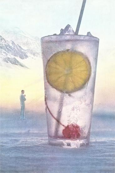 Cool Drink with Cherry and Lemon--Art Print