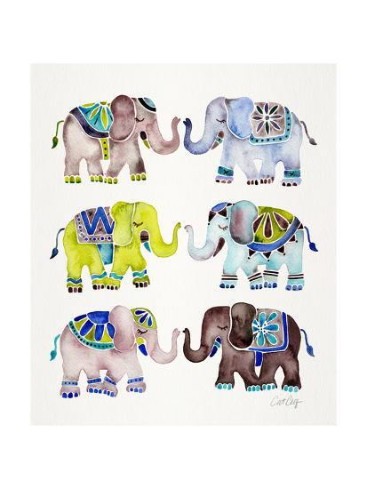 Cool Elephants-Cat Coquillette-Giclee Print