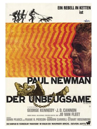 cool hand luke german movie poster 1967 art print by. Black Bedroom Furniture Sets. Home Design Ideas