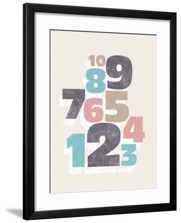 Cool Numbers-Max Carter-Framed Giclee Print