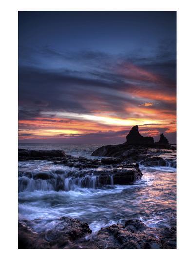 Cool Sunset over Rocks I-Nish Nalbandian-Art Print