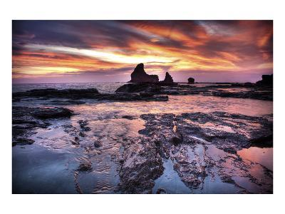 Cool Sunset over Rocks II-Nish Nalbandian-Art Print
