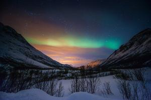 Northern Lights in Snow Valley by coolbiere photograph