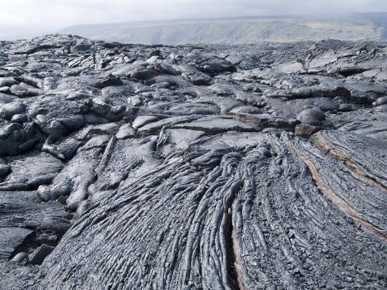 Cooled Lava from Recent Eruption, Kilauea Volcano, Hawaii Volcanoes National Park, Island of Hawaii-Ethel Davies-Photographic Print