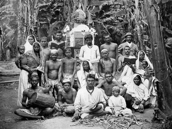 Coolies at Worship, Jamaica, C1905-Adolphe & Son Duperly-Giclee Print