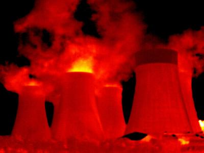 Cooling Towers, Thermogram-Tony McConnell-Photographic Print