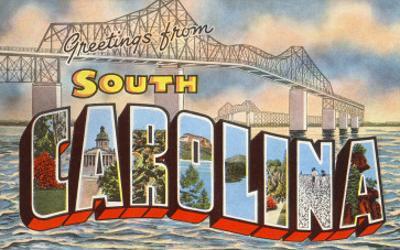 Cooper River Bridge, Greetings from South Carolina