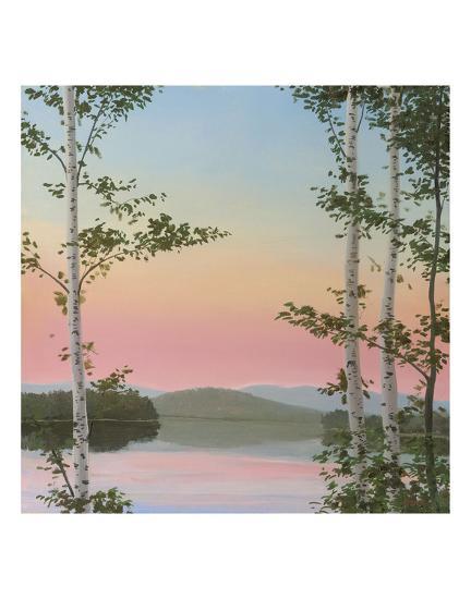 Cooper Sunset Birches-Elissa Gore-Art Print