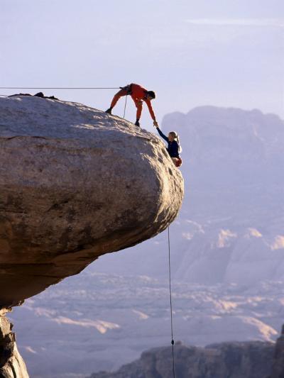 Cooperating Climbers--Photographic Print