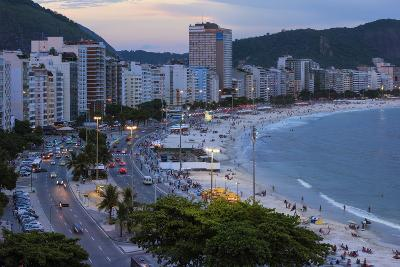 Copacabana at Night, Rio De Janeiro, Brazil, South America-Gabrielle and Michael Therin-Weise-Photographic Print