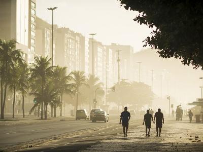 Copacabana Beach at Dawn, Rio De Janeiro, Brazil, South America-Ben Pipe-Photographic Print